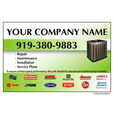 HVAC Vinyl Service Sticker Label #5 (4.25 x 2.75)