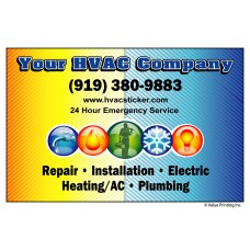 HVAC Vinyl Service Sticker Label #7 (4.25 x 2.75)
