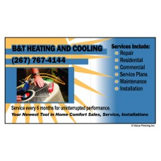 HVAC Vinyl Service Sticker Label #8 (2x3.5)