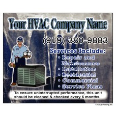 HVAC Vinyl Service Sticker Label #9 (4.25 x 3.5)