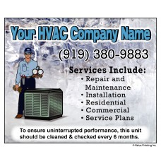 HVAC Vinyl Weatherproof Service Sticker Label #11 (4.25 x 3.5)