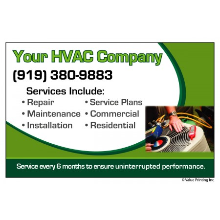 HVAC Vinyl Service Sticker Label #12 (4.25 x 3.5)