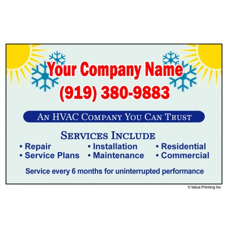 HVAC Vinyl Service Sticker Label #14 (4.25 x 2.75)