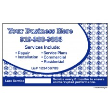 HVAC Vinyl Service Sticker Label #17 (3 x 5)