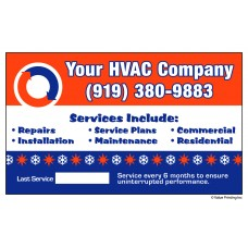 HVAC Vinyl Service Sticker Label #18 (3 x 5)