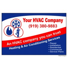 HVAC Vinyl Service Sticker Label #19 (4.25 x 2.75)