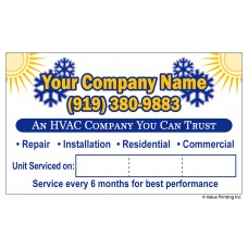 HVAC Vinyl Service Sticker Label #20 (3 x 5)