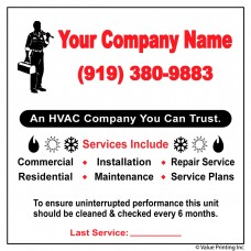HVAC Vinyl Service Sticker Label #22 (4 x 4)