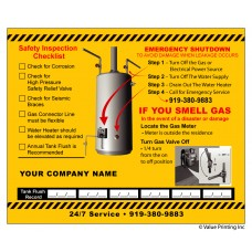 HVAC Vinyl Water Heater Sticker Label (Small) (4.25 x 3.5)