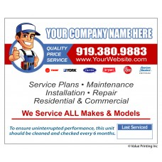 HVAC Vinyl Service Sticker Label #24 (4.25 x 3.5)