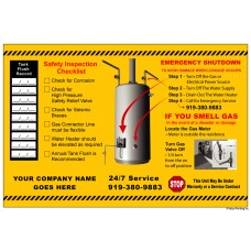 HVAC Paper Water Heater Sticker Label (6x9)