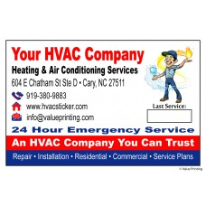 HVAC Vinyl Service Sticker Label #27 (4.25 x 2.75) *NEW*
