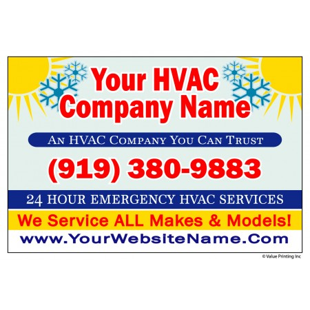 HVAC Yard Sign #4