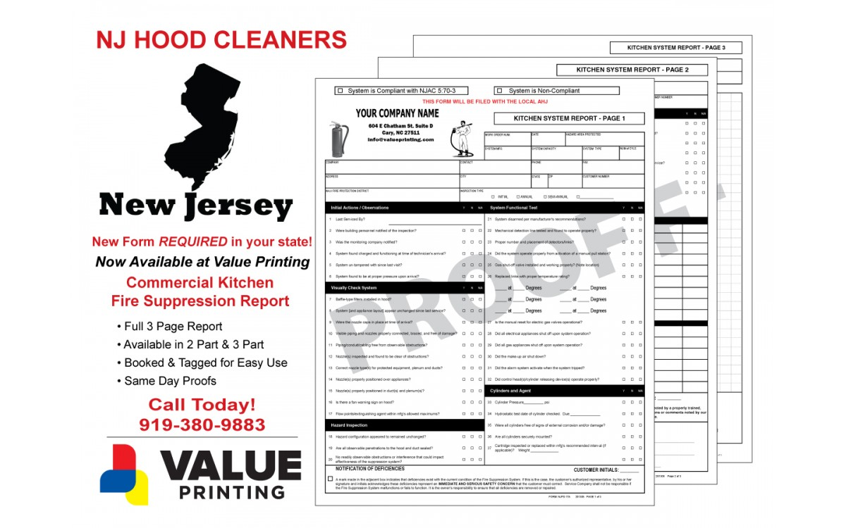 New Jersey Kitchen System Report