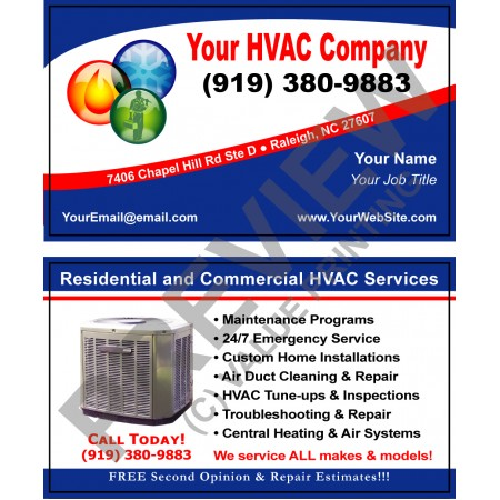 HVAC Business Card #1