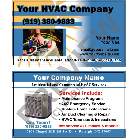 HVAC Business Card #10