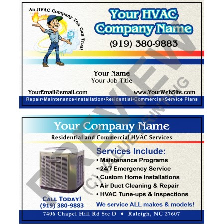 HVAC Business Card #13