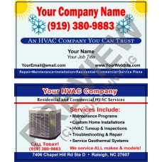 HVAC Business Card #9