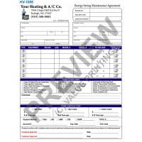 HV-1006 HVAC Maintenance Agreement