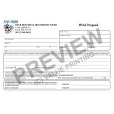 HV-1009 HVAC Half Sheet Short Sales Proposal
