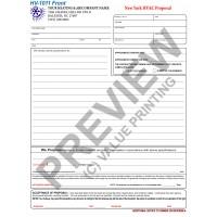 HV-1011 HVAC Equipment Proposal (New York) (2 Sides, Terms on Backside)