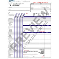 HV-1013 Electrical Work Order Invoice