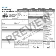 HV-1014 HVAC & Plumbing Work Order Invoice Combo