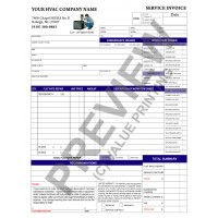 HV-1017 HVAC Flat Rate Work Order Invoice