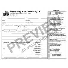 HV-1018 HVAC Equipment Change Out Contract Form (2 Sides, Terms on Back)