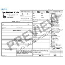 HV-1019 HVAC & Plumbing Work Order Invoice Combo