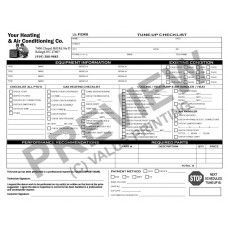 HV-1021 HVAC Tune-Up Work Order Checklist
