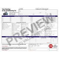 HV-1021 HVAC Tune-Up Work Order Checklist