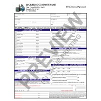 HV-1023 HVAC Equipment Change Out Contract Form (2 Sides, Terms on Back)