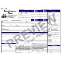 HV-1026 HVAC Refrigeration Invoice