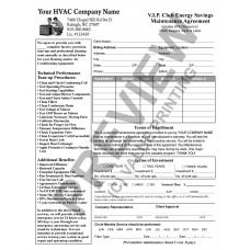 HV-1032 HVAC Service Maintenance Agreement Contract