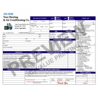 HV-1036 HVAC Time & Mileage Invoice