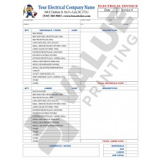 HV-1043C Electrical Invoice - Full Color