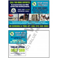 All Inclusive HVAC Business Card / Postcard Combo #41