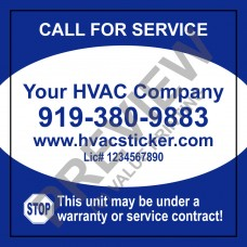 HVAC Writable Economy Service Sticker #1