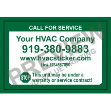 HVAC Writable Economy Service Sticker #2