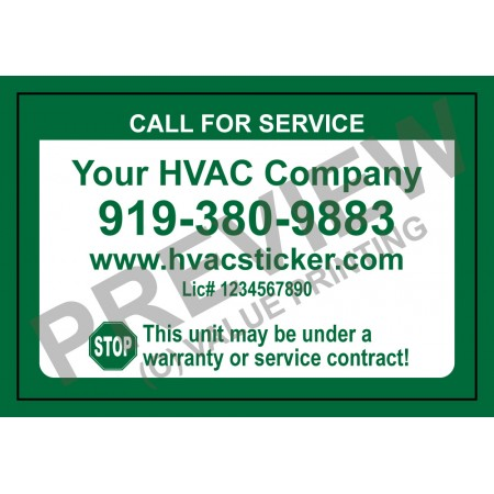 HVAC Economy Service Sticker #2