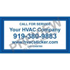HVAC Weatherproof Economy Service Sticker #3 (2x4)