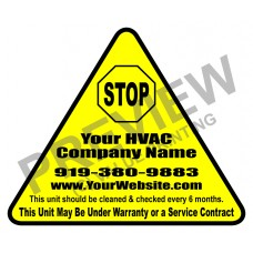 HVAC Writable Vinyl Die Cut Sticker #2 (2.5x3)