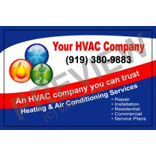 HVAC Writable Service Call Sticker #1(4.25x2.75)