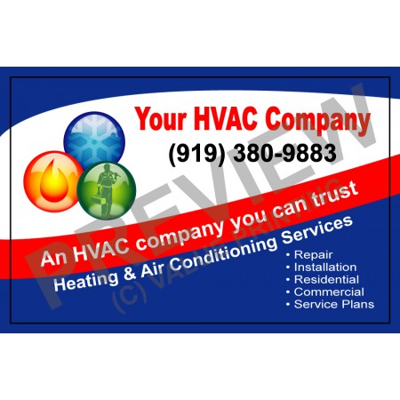 HVAC Service Call Sticker #1(4.25x2.75)