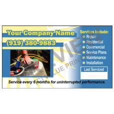 HVAC Writable Service Call Sticker #10 (2x3.5)