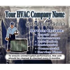 HVAC Service Call Sticker #14 (4.25x3.5)