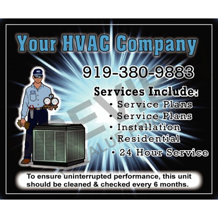 HVAC Service Call Sticker #16 (4.25x3.5)