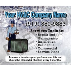 HVAC Writable Service Call Sticker #17 (4.25x3.5)