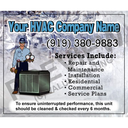 HVAC Service Call Sticker #17 (4.25x3.5)